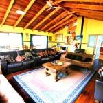 """Sanctuary Bush to Beach House"" Beachside holiday rentals Nambucca Heads near Valla Beach. Mid north coast NSW - living room"