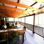 """Sanctuary Bush to Beach House"" Beachside holiday rentals Nambucca Heads near Valla Beach. Mid north coast NSW - verandah"
